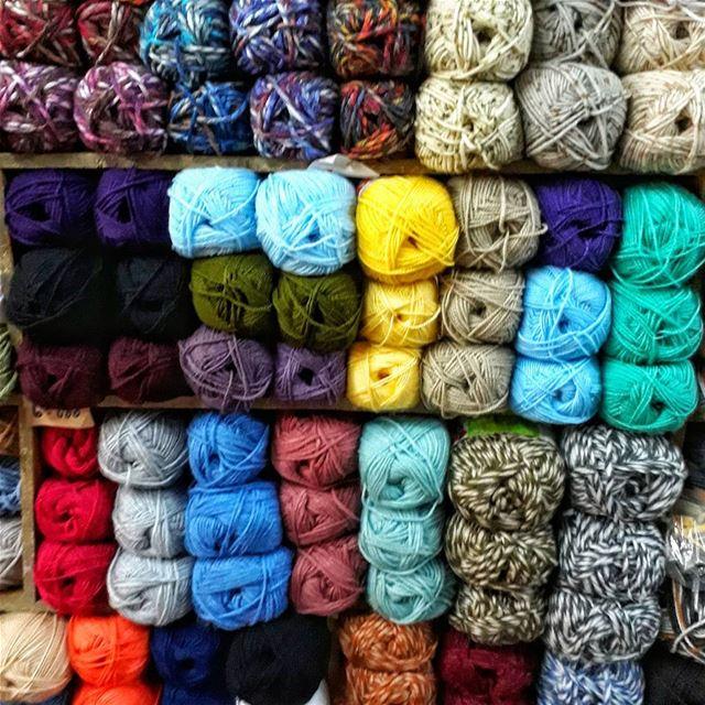 colors color display art wool vivid minimalist minimalart beirut ... (Burj Hamud, Mont-Liban, Lebanon)