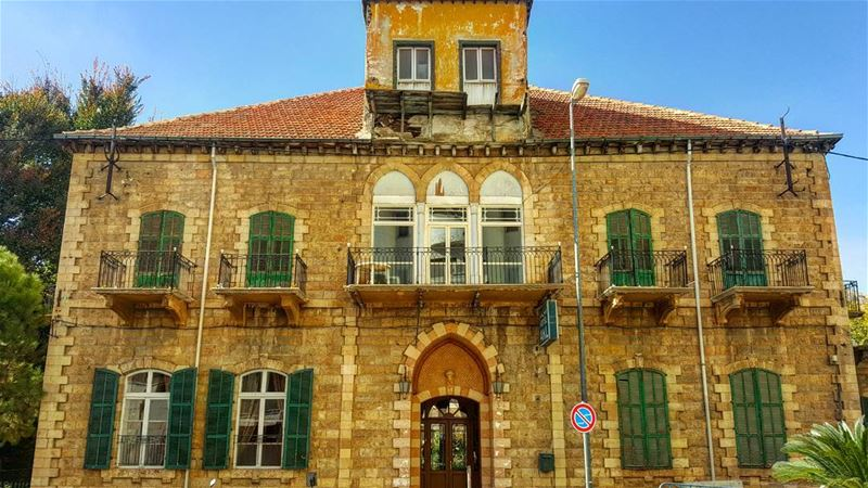 This must have been such a beautiful family home prior to being... (Zahlé, Lebanon)