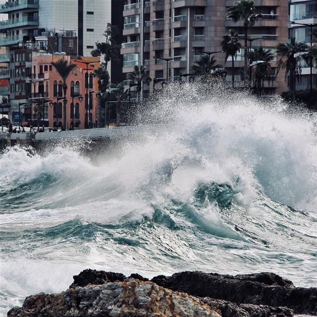 The angry sea 🌊 (Beirut, Lebanon)