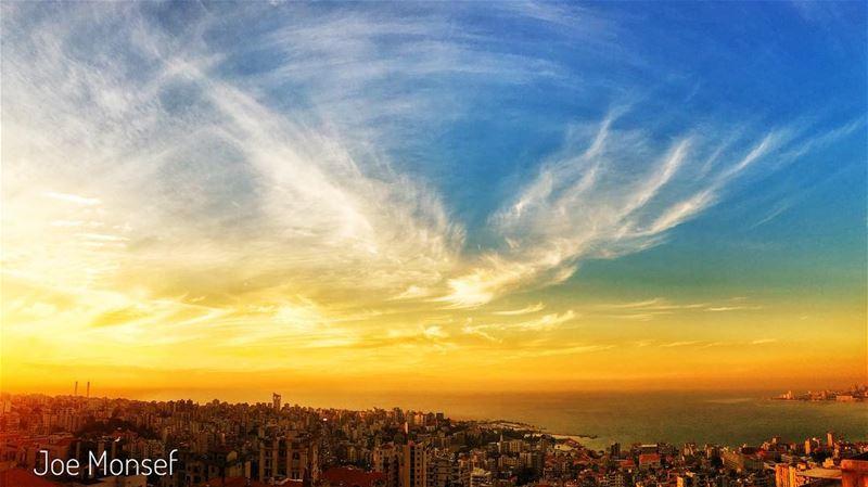 jounieh keserwan lebanon sea sunset sweet yellow blue cute ...