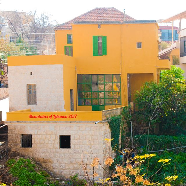 A before and After shot of a stone house restoration in the town of... (Ras Maska)