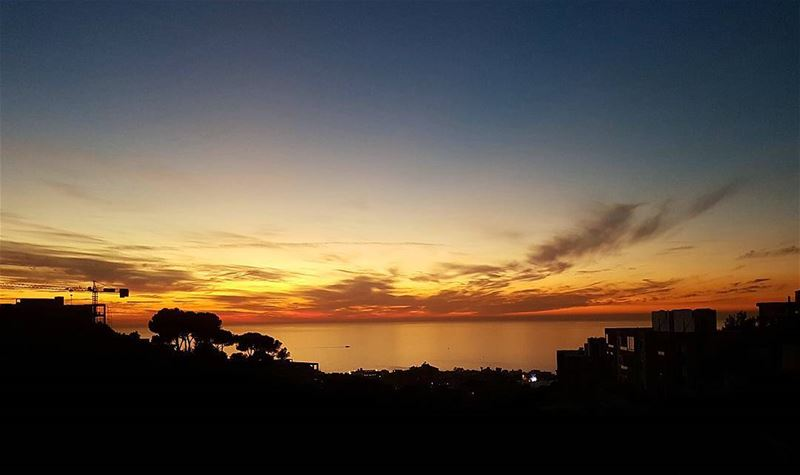 Where any day can end gracefully.. sunset lifewithaview home... (Adma Ad Dafnah, Mont-Liban, Lebanon)