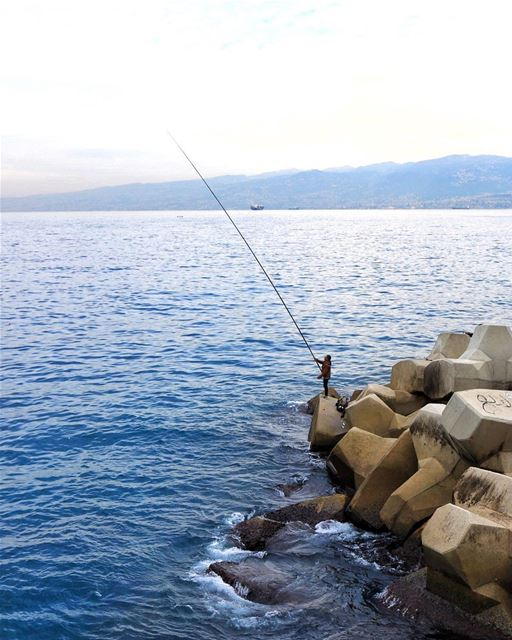 The simple life is a good life 🎣 (Beirut, Lebanon)