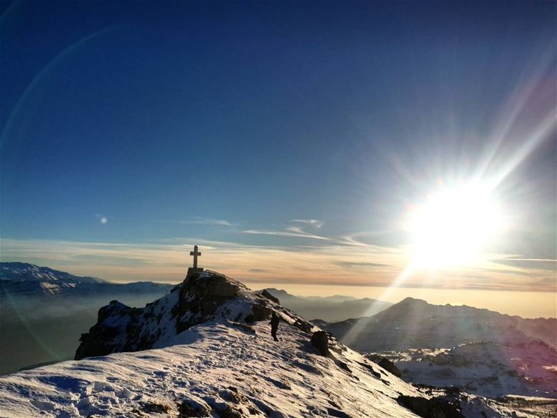 hiking topview snowtime lebanon sunset lebanon_hdr ...