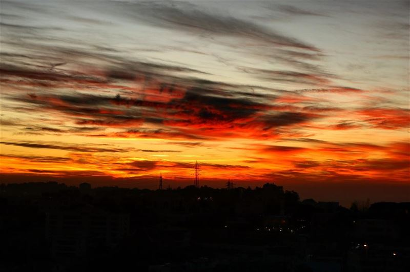 Another beautiful sunset from my window! We always think in terms of...