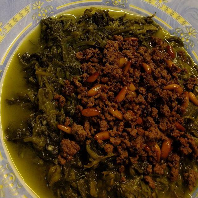 سبانخ سبانخ مع اللحمة والرز spinach spinachwithmeat food ...
