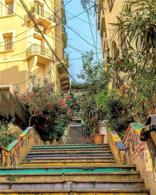 Such a beautiful Chaos 💙💚Good morning everyone beirut ... (Mar Mikhael-Armenia The Street)