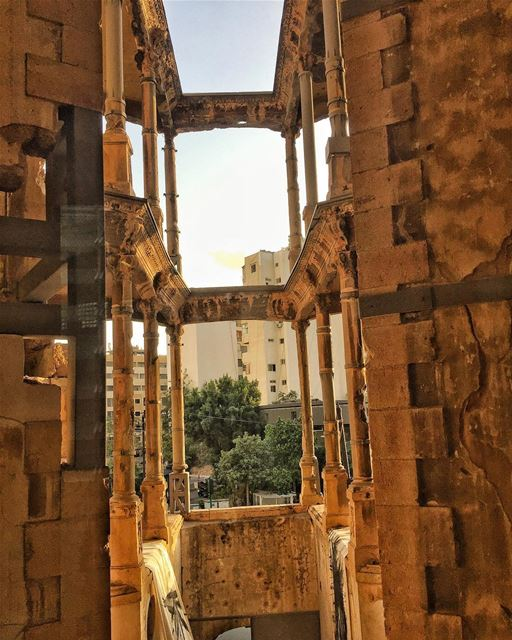 The Beauty of places and monuments reflective of our past is that they... (Beirut, Lebanon)