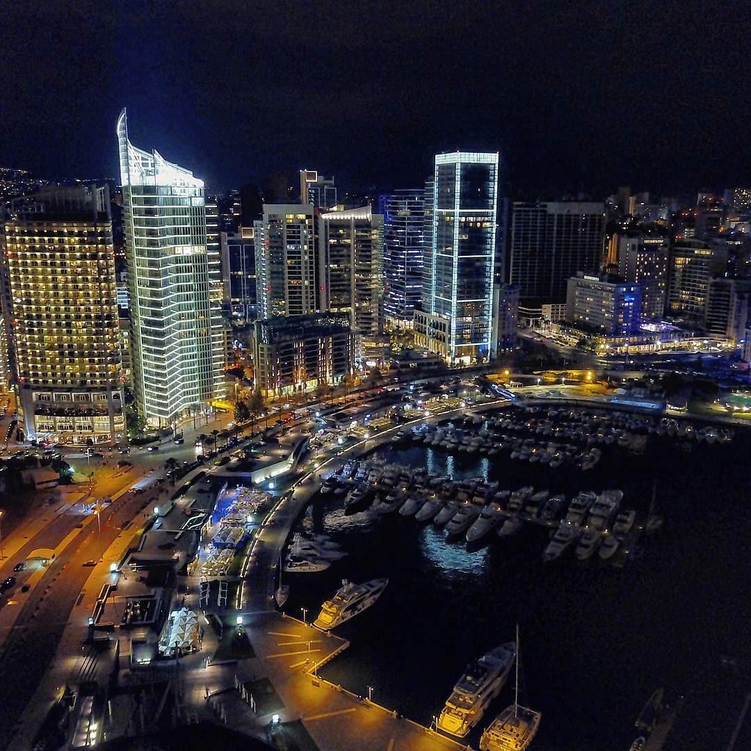 B E I R U T City Of Lights ☄☄☄... Abovelebanon Lebanon ... (Zaitunay Bay)