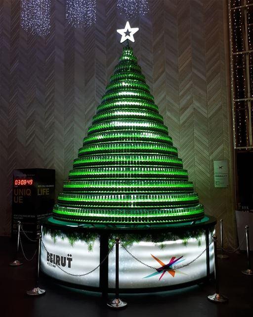 Christmas tree beer bottles lights itstheseason seasonsgreetings ...