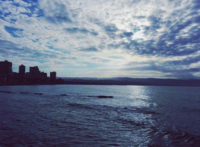 Tyre city morning love sea sky blue amazing likeforlike ... (Tyre, Lebanon)