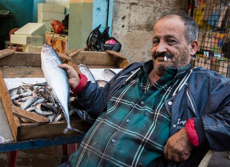 Proudly a fisherman... from the streets of sidon lebanon oldmarket ...