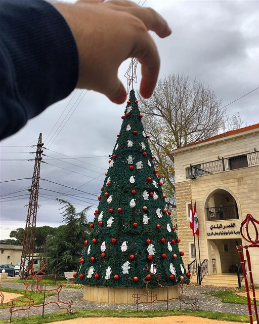 The perfect Christmas 🎄? All Christmas trees are perfect 👌🏻 ... (Bologne, Mont-Liban, Lebanon)