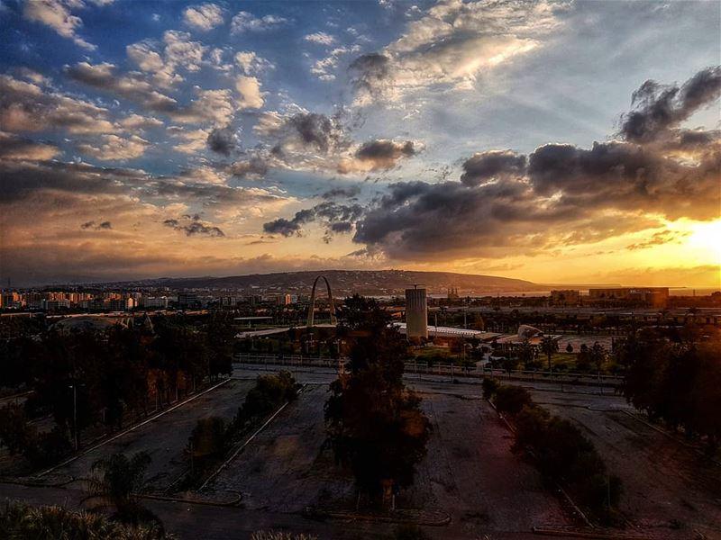 Sunset and silouttes of Tripoli silouette sunset sunset_hub ... (Tripoli, Lebanon)