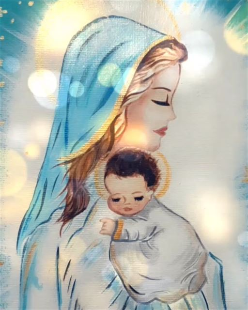 Our mother Mary and baby Jesus. Let us not forget the reason for this...