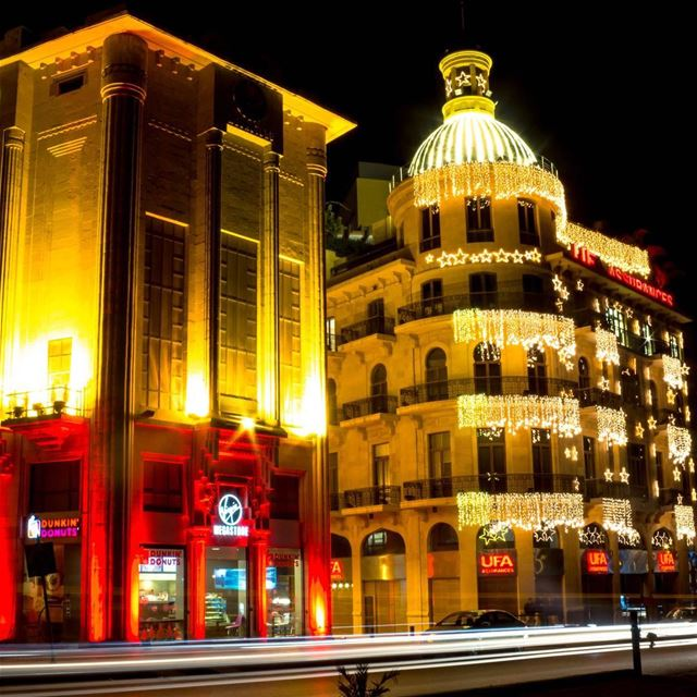 Beirut nightphotography cityscape citylights lebanon_hdr... (Downtown Beirut)