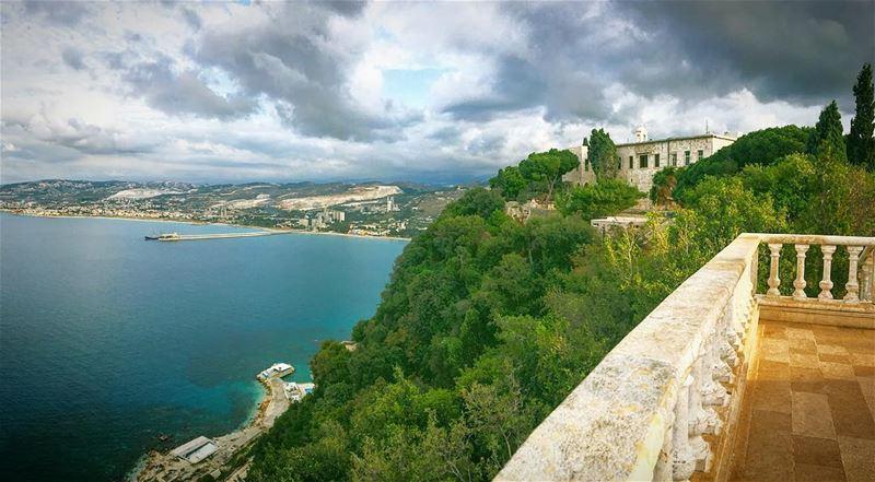 Shades of blue .. lebanon liban hamat saydetelnourieh monastery ... (Saydet El Nourieh)