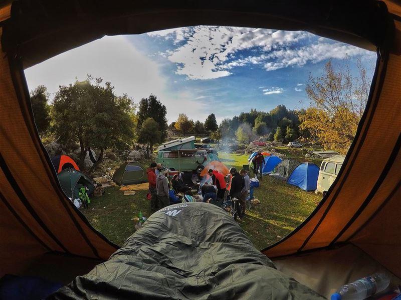 Morning Vibes 🏕 who would you take camping ? ... (CampingDreams)