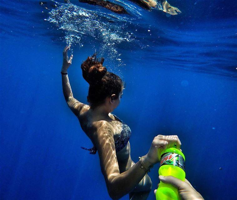 Bro, Ur Still Swimming?! With that Green Magic @mountaindewlebanon, YES I... (Batroûn)