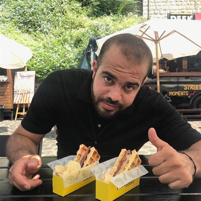 burgerfest zoukmikael waffles waffleburger burger lebanon foodlover... (Zouk Mikael)