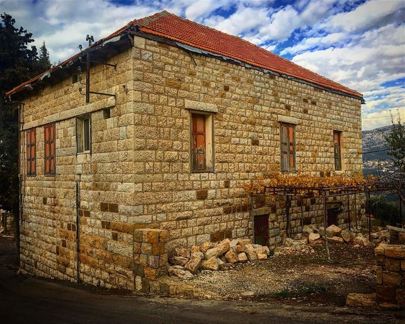 Old houses are full of memories and that's why they resist to collapse!... (Douma, Liban-Nord, Lebanon)