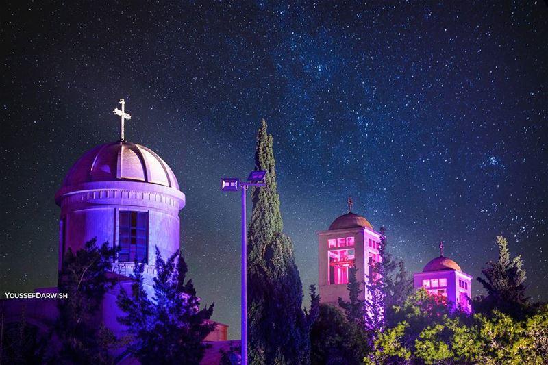 maghdouche liban christmas nightscape longshutter longexposure ... (Maghdoûché, Liban-Sud, Lebanon)
