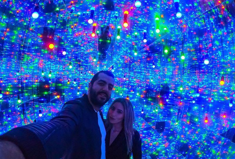 DAZZLING INFINITY LIGHTSPACE✨👫💥  downtown  beirut  citylights ... (Downtown Beirut)