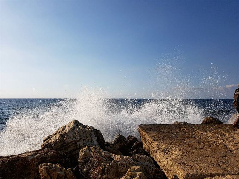 We return to each other in waves.This is how water loves🌊 ~Nayyirah... (Byblos, Lebanon)