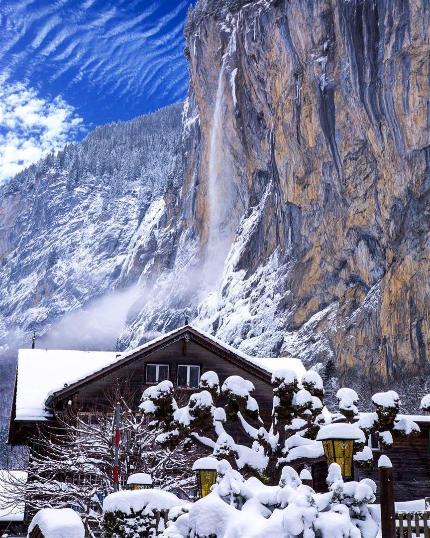 Lauterbrunnen is a Swiss town surrounded by high Alpine mountains from... (Lauterbrunnen, Switzerland)