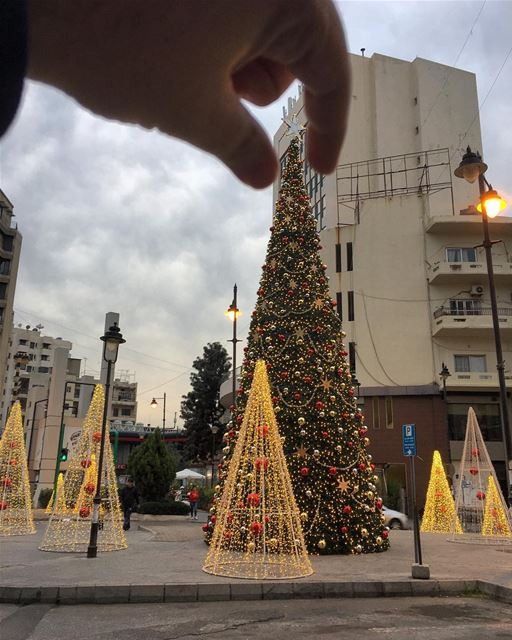 The perfect Christmas 🎄? All Christmas trees are perfect 👌🏻 ... (Achrafieh, Lebanon)