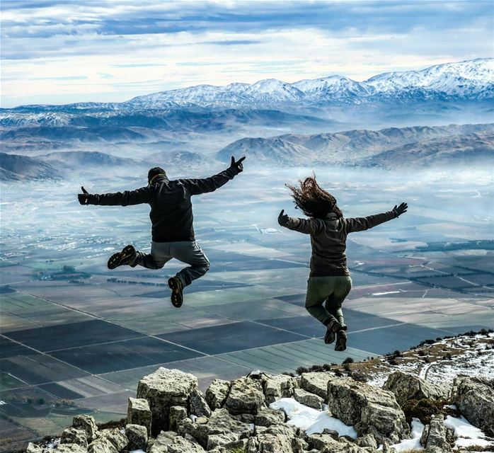 High 💫 Dec 10, 2017 jump hiking peaks bekaa mountains agriculture ...