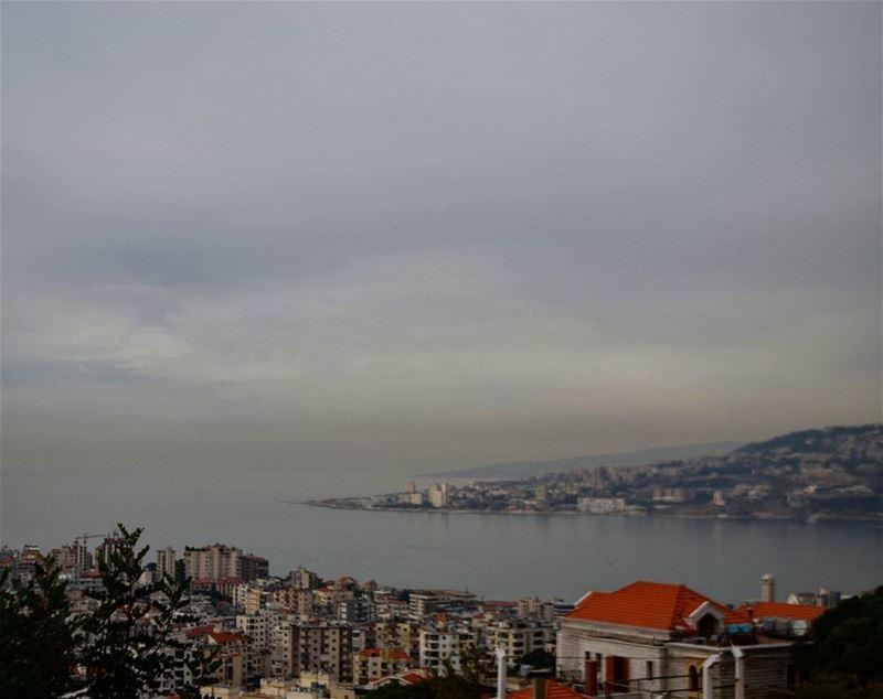 where the skymeets the sea ❤ goodafternoon lebanon bay cloudporn ... (Kasrouane)