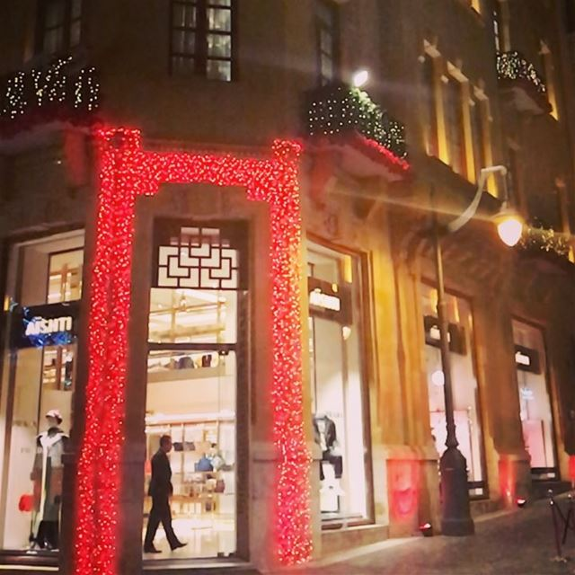 Can't stop falling in love with Beirut in Chritsmas♥️🎄🌟 Slow-Motion ⏳⌛️... (Downtown Beirut)