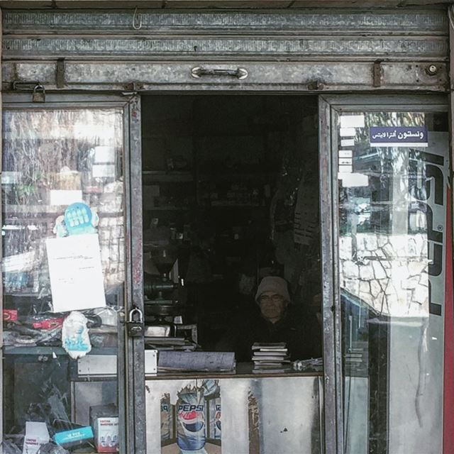 👴🏻📚..... picoftheday photooftheday old oldshop oldman travel... (Akoura, Mont-Liban, Lebanon)