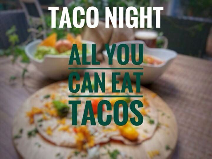"It's Tonight Taco Lovers! ""ALL YOU CAN EAT TACOS"" with one local draught... (Em's cuisine)"