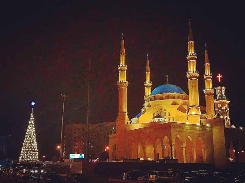 Silent night🌟All is calm,all is Bright✨@beirut_downtown @lebanontimes @ (Downtown Beirut)