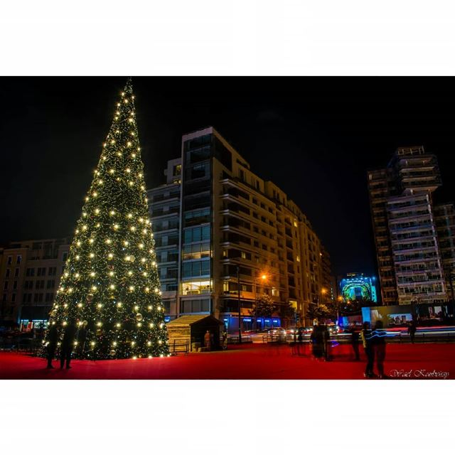 beirut  downtown  cit  citylights  christmas  tree  cars  lights  night ... (Downtown Beirut)
