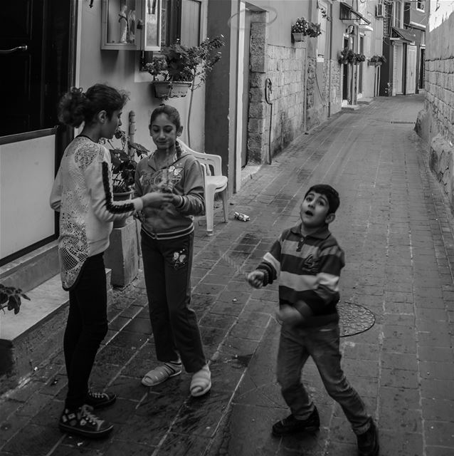 Kids playing in the streets of Tyre Lebanon Tyre Sour livelovetyre ... (Tyre, Lebanon)