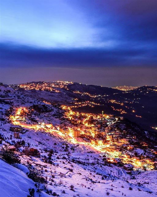 Merry Christmas from the beautiful snowy mountains of Lebanon! Sawfar... (Kobbieh Mount Liban)