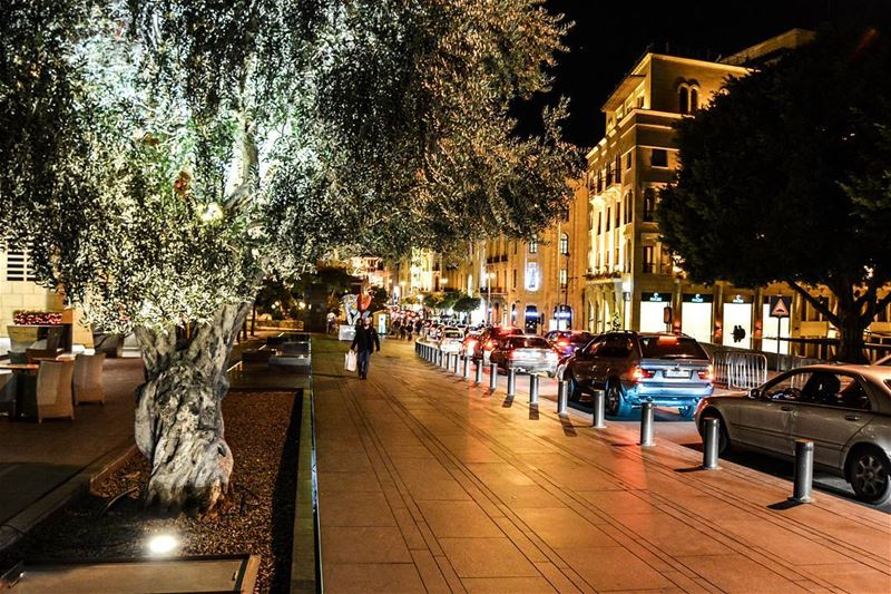 Beirut Christmas nights. The downtown of Beirut at night. livelovebeirut... (Beirut, Lebanon)