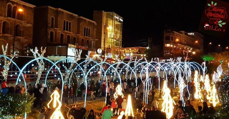 "This year, lights from all the corners of Lebanon are shouting ""Merry ..."