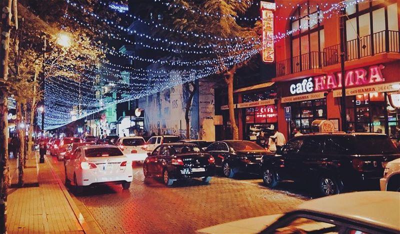 Hamra street 😍 (Hamra, Beyrouth, Lebanon)