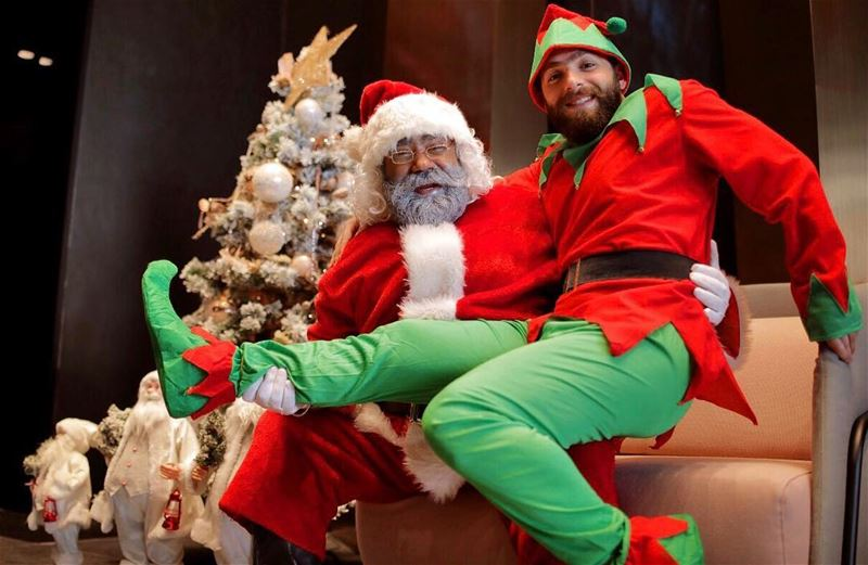 Can't wait to meet you all tonight, Ho Ho Ho, here comes Santa and his elf...