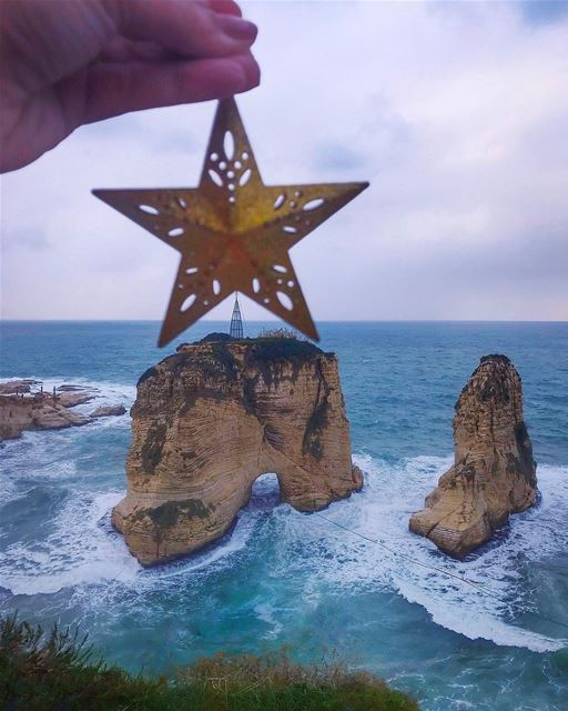 A diamond shines no brighter than that lovely Christmas star. It shines... (Beirut, Lebanon)