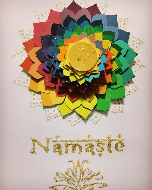 namaste india spiral project vacation colorful artistic art arts...