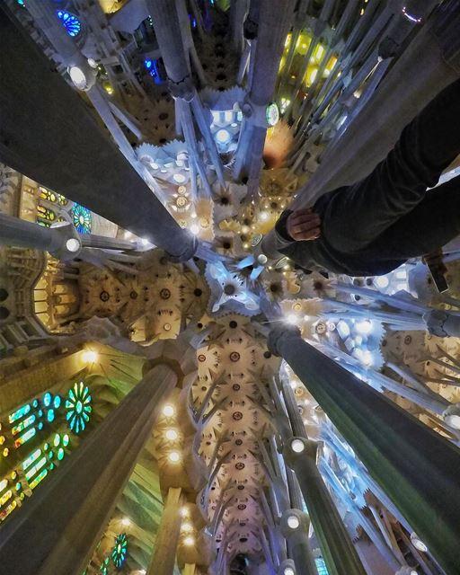 The meeting of Heaven and Earth 🙏🏻 Merry Christmas Everyone ... (Basílica de la Sagrada Família)