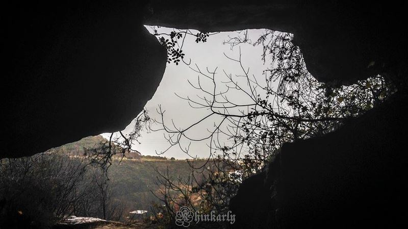 The entrance of the rouis cave looks like the head of an animal.Rouis... (Rweiss Grotto)