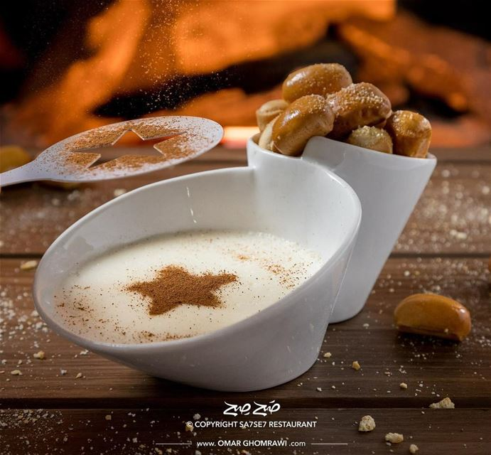 Sahlab is a popular drink in Lebanon, made by stirring milk with some...