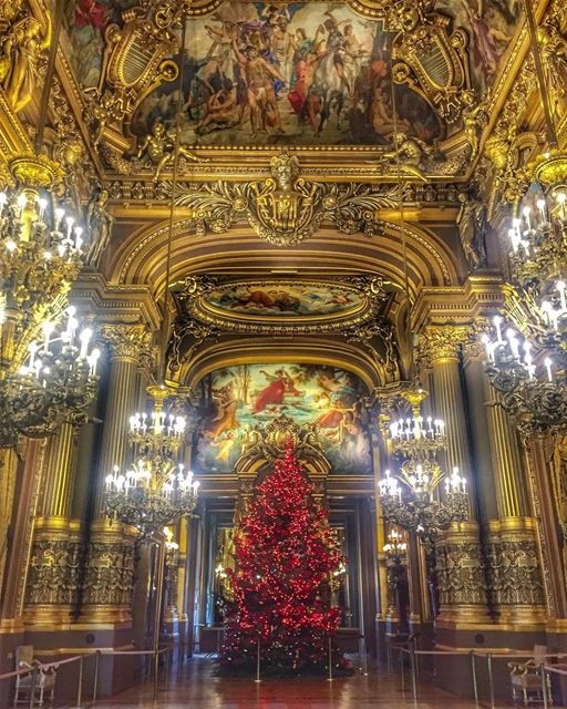 May your Christmas sparkle and your holidays overflow with gifts ,love and... (Opéra Garnier Paris, France)