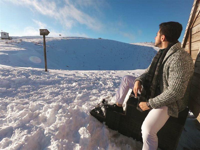 ❄❄ faraya gopro goprohero6 adventure hikingday lebanon snow ... (Faraya, Mont-Liban, Lebanon)
